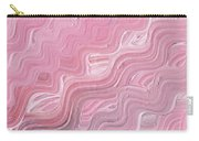 Wavy Pink Brush Strokes Abstract Art For Interior Decor Viii Carry-all Pouch
