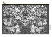 Waxleaf Privet Blooms In Black And White Abstract Poster Carry-all Pouch