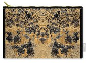 Waxleaf Privet Blooms In Black And White - Color Invert With Golden Tones Abstract Carry-all Pouch