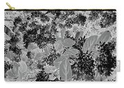 Waxleaf Privet Blooms On A Sunny Day In Black And White - Color Invert Carry-all Pouch