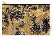 Waxleaf Privet Blooms On A Sunny Day In Black And White - Color Invert With Golden Tones Carry-all Pouch