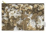 Waxleaf Privet Blooms On A Sunny Day In Sepia Tones Carry-all Pouch