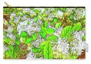 Waxleaf Privet Blooms On A Sunny Day Carry-all Pouch