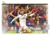Wayne Rooney Shoots At Goal Carry-all Pouch
