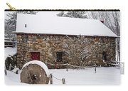 Wayside Inn Grist Mill Covered In Snow Millstone Carry-all Pouch