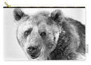 Wb Portrait Of A Bear Carry-all Pouch