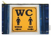 Wc Sign, Croatia Carry-all Pouch