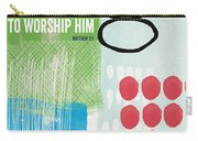 We Come To Worship- Contemporary Christmas Card By Linda Woods Carry-all Pouch