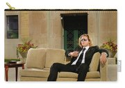 Wealthy Young Man In Suit Sitting On A Couch With A Drink On A T Carry-all Pouch