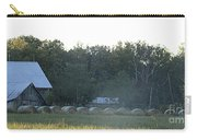 Weathered Barn And Hay Bales  Carry-all Pouch