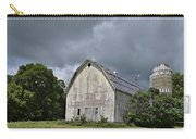 Weathered Barn And Silo Under A Cloudy Sky Carry-all Pouch