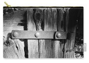 Weathered Fence In Black And White Carry-all Pouch