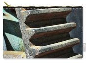 Weathered Metal Cogs Carry-all Pouch