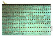 Weathered Metal Rivets With Green Patina Carry-all Pouch