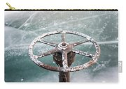 Weathered Metal Valve On Ice Carry-all Pouch