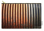 Weathered Metal With Rows Carry-all Pouch