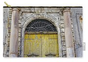 Weathered Old Artistic Door On A Building In Palermo Sicily Carry-all Pouch