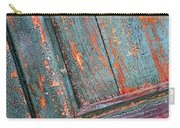 Weathered Orange And Turquoise Door Carry-all Pouch