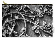 Weathered Wall Art In Black And White Carry-all Pouch