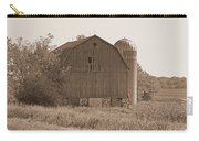 Weathered Wisconsin Barn In Sepia Carry-all Pouch