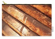 Weathered Wood Log Cabin Carry-all Pouch