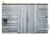 Weathered Wooden Door In France Carry-all Pouch