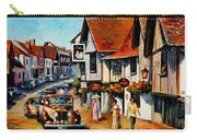 Wedding Day In Lavenham-suffolk-england - Palette Knife Oil Painting On Canvas By Leonid Afremov Carry-all Pouch
