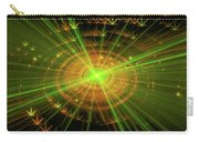 Weed Art Green And Golden Light Beams Carry-all Pouch