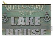 Welcome Lake House Carry-all Pouch