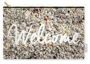 Welcome Seashell Background Carry-all Pouch