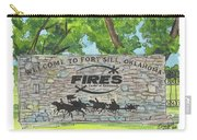 Welcome Sign Fort Sill Carry-all Pouch by Betsy Hackett