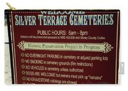Welcome Silver Terrace Cemeteries Carry-all Pouch