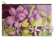 Welcome Spring Violets Carry-all Pouch