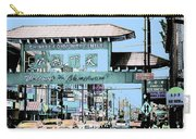 Welcome To Chinatown Sign Blue Carry-all Pouch by Marianne Dow