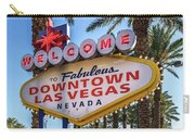 R.i.p. Welcome To Downtown Las Vegas Sign Day Carry-all Pouch