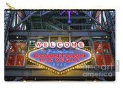 Welcome To Downtown Las Vegas Sign On Slotzilla Carry-all Pouch