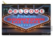 Welcome To Downtown Las Vegas Sign Slotzilla Carry-all Pouch