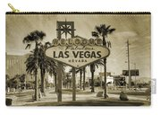 Welcome To Las Vegas Series Sepia Grunge Carry-all Pouch