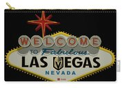 Welcome To Vegas Knights Sign Digital Drawing Carry-all Pouch