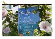 West End Hollyhocks Carry-all Pouch