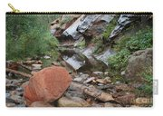 West Fork Trail River And Rock Horizontal Carry-all Pouch
