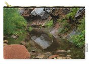 West Fork Trail River And Rock Vertical Carry-all Pouch by Heather Kirk