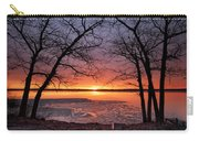 West Pine Road End Sunrise Carry-all Pouch