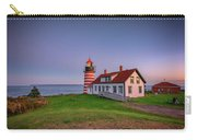 West Quoddy Head Light At Dusk Carry-all Pouch