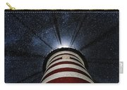West Quoddy Head Lighthouse Night Light Carry-all Pouch by Marty Saccone