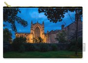 West Side Of Hexham Abbey At Night Carry-all Pouch