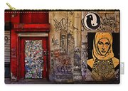 West Village Wall Nyc Carry-all Pouch by Chris Lord