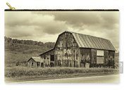West Virginia Barn Sepia Carry-all Pouch
