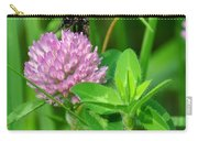 Western Honey Bee On Clover Flower Carry-all Pouch