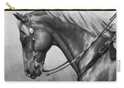 Western Horse Black And White Carry-all Pouch by Crista Forest